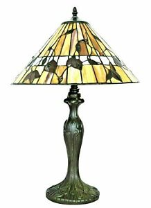 """Tiffany Style Table Lamp Handmade Stained Glass 16"""" ( AMAZING QUALITY )"""