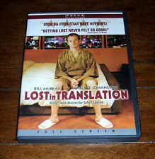 Dvd: Lost in Translation - Movie Film / Bill Murray Scarlett Johansson Tokyo Vg+