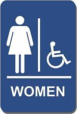 New listing Lynch Signs 6 in. x 9 in. Sign Women Accessible Braille for Latch Side of Door