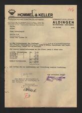 ALDINGEN, Brief 1939, Hommel & Keller Präzisions-Messwerkzeug-Fabrik