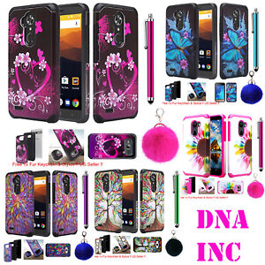 ZTE Max XL, Blade 3, Zmax Pro 2 Hybrid Armor Shockproof Cover Phone Hard Case