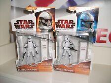 star wars saga legends CLONE TROOPER job lot bundle AOTC ROTS MINT ON CARDS