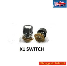 6mm Knurled Shaft 12Pin Rotary Switch Potentiometer 2-Pole 5-Position 2P5T #S60
