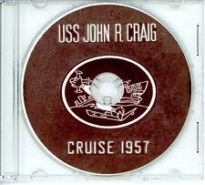 USS John R Craig DD 885 1957 WESTPAC Cruise Book CD US Navy Photos