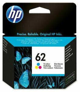 Original HP 62 Tri-colour Ink Cartridge for HP Envy 5644 e-All-in-One printer