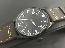 44mm Parnis Hand Winding Men's Watch Seagull 3600 Movement Leather Strap Fashion