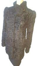 Stunning black real Persian Karakul lamb fur jacket-UK14,US10,IT46,F42,D38
