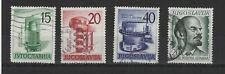Yougoslavie 1960  4 timbres oblitérés / T2130