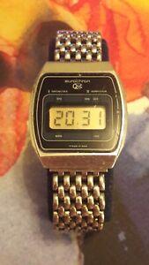 Ruhla Eurochron 15-02 LCD vintage Herrenuhr DDR 1980er Jahre selten Chrom
