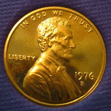 1976-s Cameo Proof Lincoln Cent Nice Medium Toned Problem Free Coins