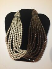 Coppola e Toppo 8-strand 1960's Pearl Smoky Brown Murano Glass Bypass Necklace