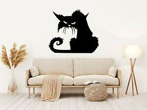 GRUMPY CAT Halloween Vinyl Decal Sticker Window Wall Decoration Party Kids