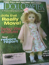 DOLL CRAFTER May 2005 RARE cloth art~clay~porcelain dollmaking patrns magazine