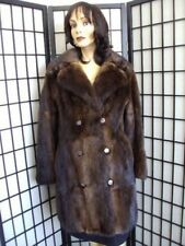 Excellent Brown Muskrat Fur Coat Jacket Women Woman Size 8-10 Medium