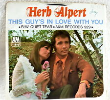 Herb Albert - This Guy/A Quiet Tear - AM Records Label #929/Picture Sleeve - VG