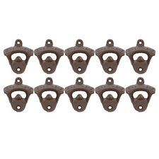 NEW 10PCS Rustic Cast Iron Retro OPEN Fixed Wall Mounted Beer Soda Bottle Opener