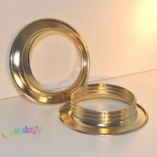 Gewindering, Schraubring für E27 Fassung, vermessingt D=56,5mm, H=13mm