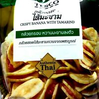 5 x 90 g.Thai Banana Chips Stuffed W/ith Tamarind Jam Delicious & Healthy Snack