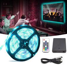 2M 5050 RGB LED Strip Light TV Backlight +Battery Box + USB Cable + RF Remote