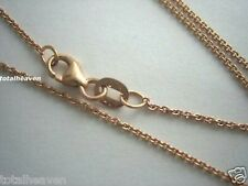 """Solid 18K Pink Rose Gold Chain 16"""" Italian 1.48g Cable Tiff Link BEAUTY"""