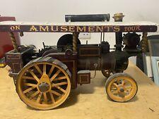 More details for showmans steam engine, scratch built wooden model, vintage