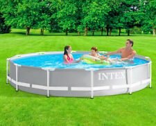 "New Intex 12' X 30"" Prism Frame Metal Above Ground Swimming Pool 