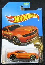 2017 Hot Wheels Orange 2013 Chevy Camaro Special Edition Card #246 30-091617