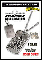 STAR WARS CELEBRATION ANAHEIM 2015 SWC7 NECKLACE 1/250 & FREE MANDALORIAN PIN