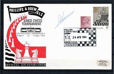 "1984 Ajedrez, Chess ""kings chess tournament London"" signed by A. Karpov"