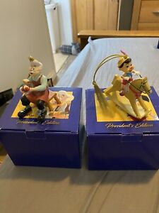 Geppetto And Pinocchio Disney Grolier Christmas Presidents Edition Ornament
