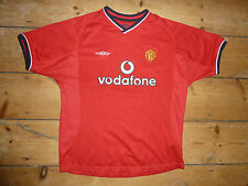 12 Ans / 13 Yrs Club Football Manchester United Maillot de 2001-02
