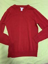 Amazon Essentials New boys/girls red lightweight V sweater large size 10 Uniform