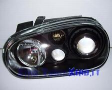 Fari Fanali R32 Look Fondo NERO BLACK VW GOLF 4 IV LENTICOLARI H7 DEPO GTI TUTTE