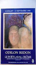 ODILON REDON Affiche originale  98 Le Poët Laval Drôme Vierge Enfant Bordeaux