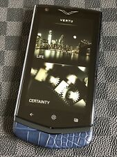 Genuine Vertu Constellation V Android Luxury Phone Pure NAVY Alligator Brand NEW
