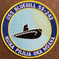 USN Navy USS Bluegill SS 242 GATO-CLASS Submarine Embroidered Full Color Patch