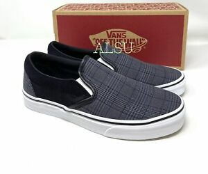 VANS Classic Slip-On Suiting Canvas Black Men's Sneakers VN0A4BV3AJS