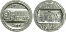 Para muestra 25pf. j.18 1908 a en otros diseño del anverso y el reverso