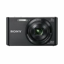 Black Sony Cybershot W830 20.1mp Compact Digital Camera 8x Zoom 720p HD USB