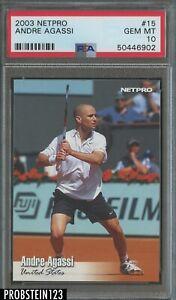 2003 Netpro Tennis #15 Andre Agassi RC Rookie PSA 10 GEM MINT