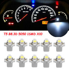 10x T5 B8.3D 5050 1SMD Car LED Dashboard Dash Gauge Instrument Light Bulbs White
