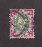 Great Britain stamp #126, used, perfin,  Queen Victoria, SCV $145
