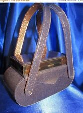 VINTAGE WILARDY IRIDESCENT GOLD/BLACK LUCITE COMPACT LUCITE PURSE!! STUNNING