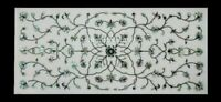 """18""""x24"""" Marble Top Coffee Table Paua Shell Floral Inlay Cafeteria Art Decor W438"""