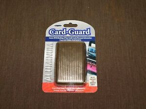 WALLET CASH MONEY RFID BLOCKING OF YOUR CREDIT CARDS ALUMINUM CARD-GUARD NEW