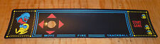 Multicade Pac Man Control panel overlay With trackball 3 inch 2 1/4 Die Cut