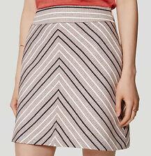 NWT Ann Taylor LOFT Multi-color Chevron Tweed Skirt Size 0
