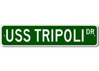 USS TRIPOLI LPH 10 Ship Navy Sailor Metal Street Sign - Aluminum