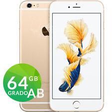 APPLE IPHONE 6S 64GB ORO GOLD BIANCO GRADO AB RIGENERATO RICONDIZIONATO GARANZIA