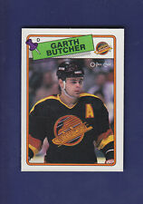 Garth Butcher RC 1988-89 O-PEE-CHEE Hockey #202 (NM+)